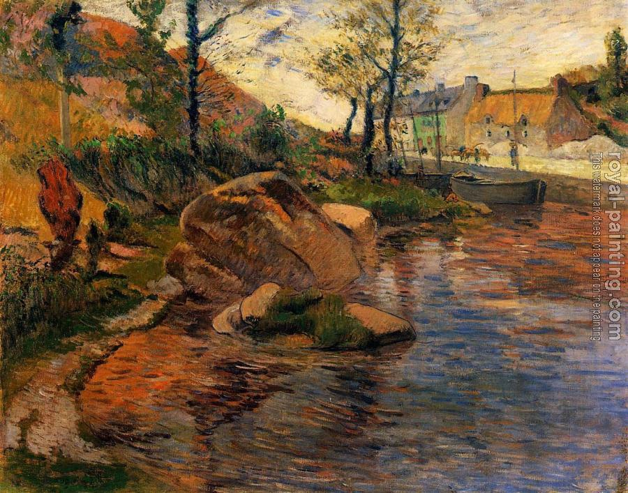 Paul Gauguin : Cove opposite Pont-Aven Harbor