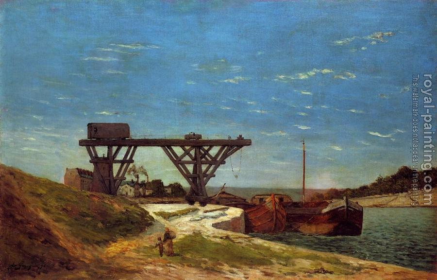 Paul Gauguin : Crane on the Banks of the Seine
