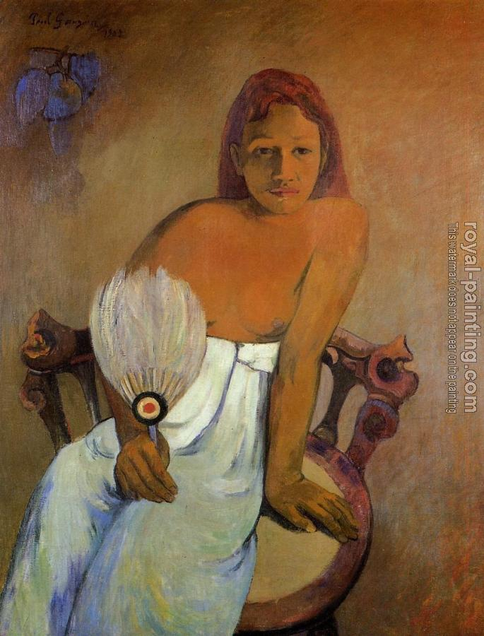 Paul Gauguin : Girl with a Fan