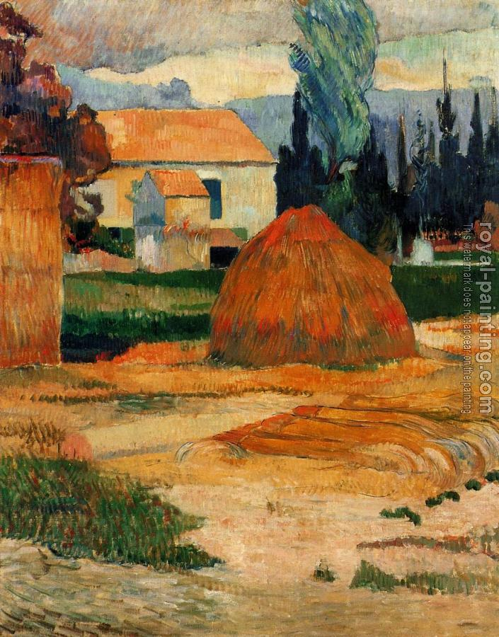 Paul Gauguin : Haystack, near Arles