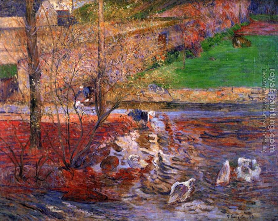 Paul Gauguin : Landscape with Geese