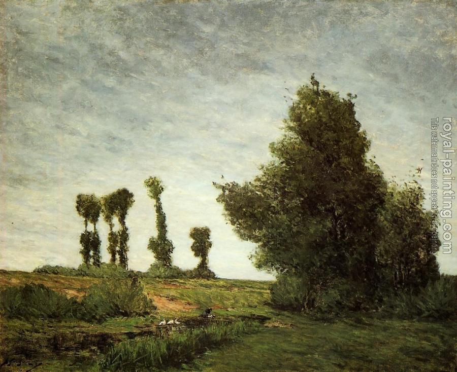 Paul Gauguin : Landscape with Poplars