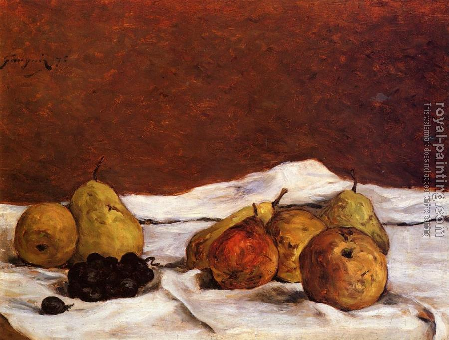 Paul Gauguin : Pears and Grapes