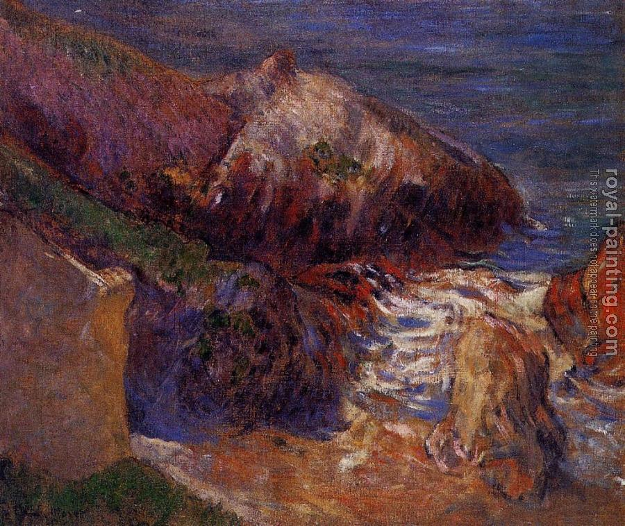 Paul Gauguin : Rocks on the Coast