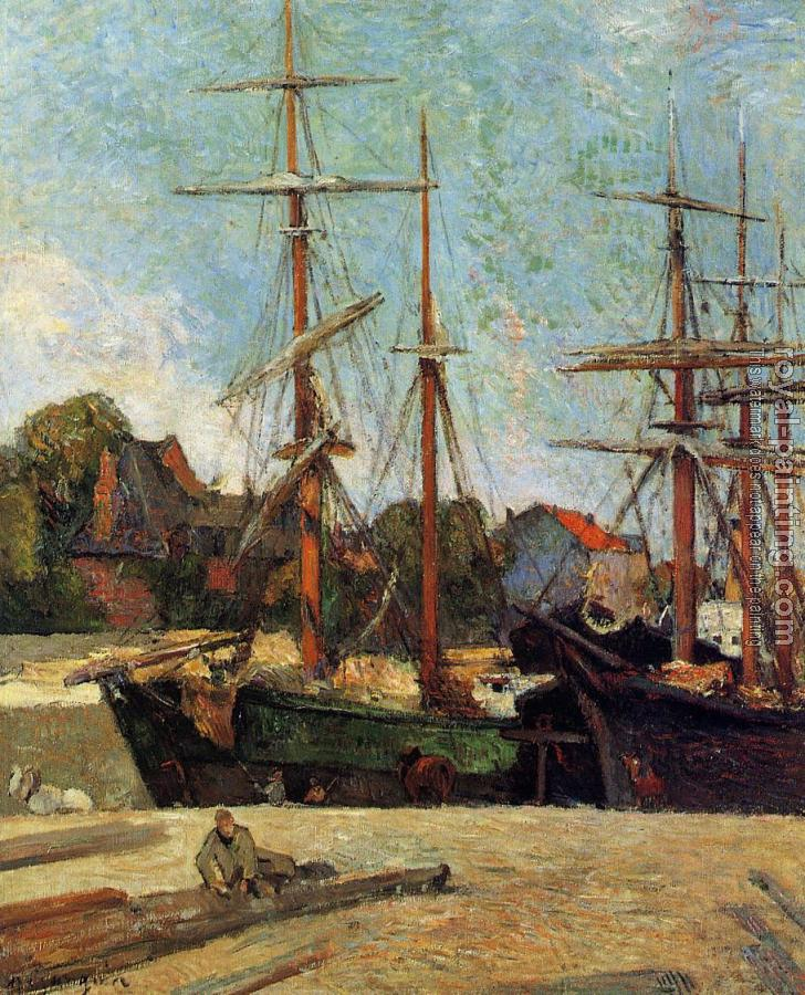 Paul Gauguin : Schooner and Three-Master