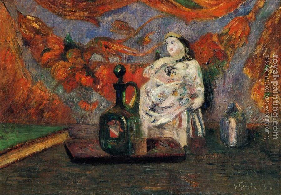 Paul Gauguin : Still Life with Carafe and Ceramic Figure