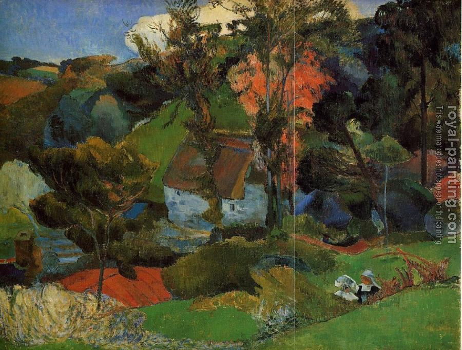 Paul Gauguin : The Aven Running through Pont-Aven