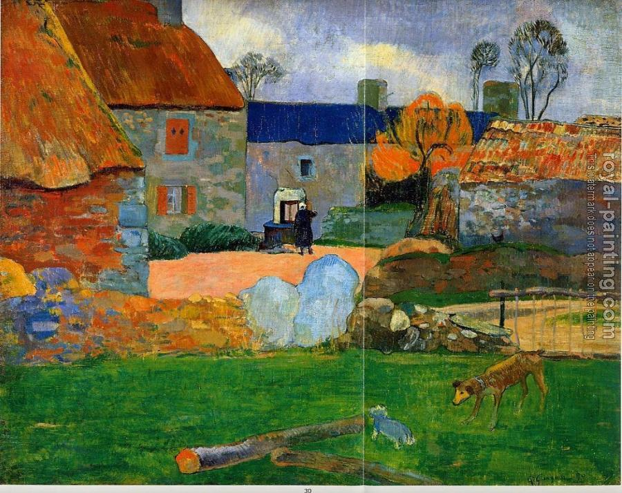 Paul Gauguin : The Blue Roof
