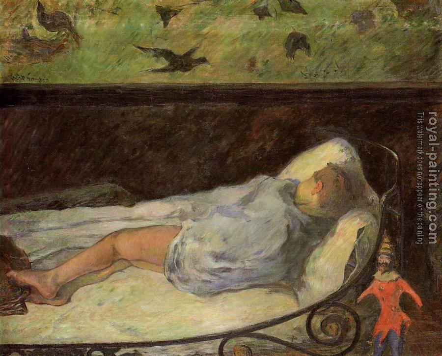 Paul Gauguin : Young Girl Dreaming