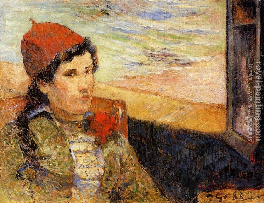 Paul Gauguin : Young Woman at a Window