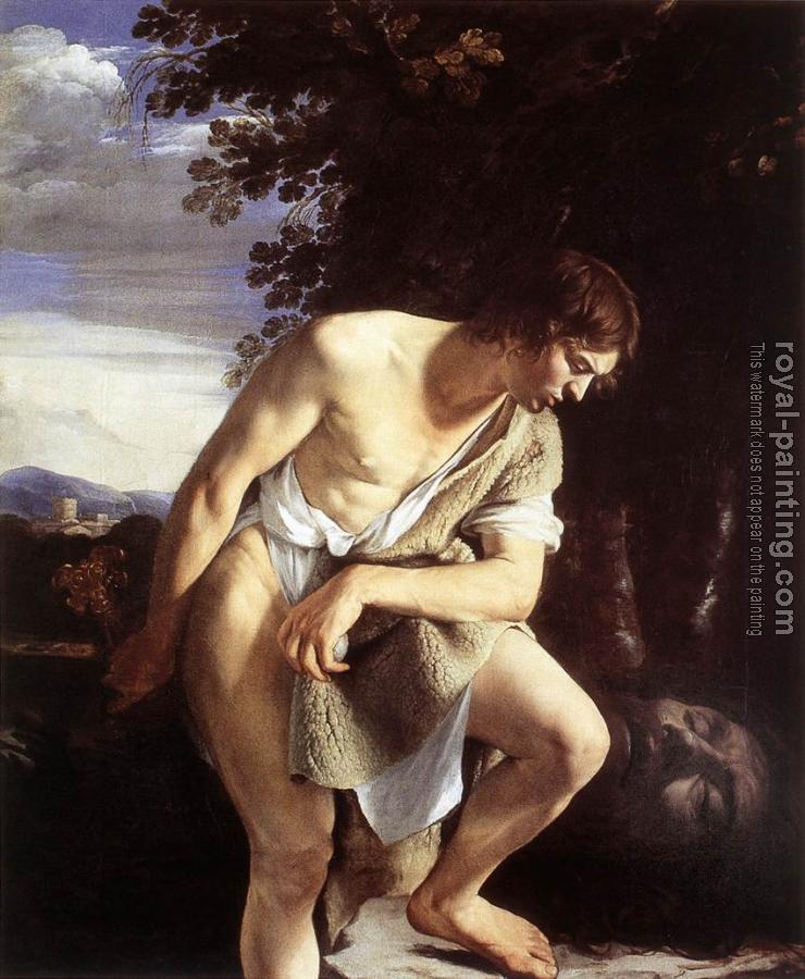Orazio Gentileschi : David Contemplating the Head of Goliath