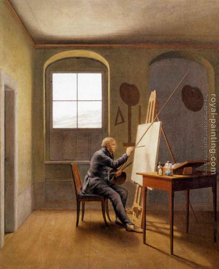 Georg Friedrich Kersting : Caspar David Friedrich In His Studio
