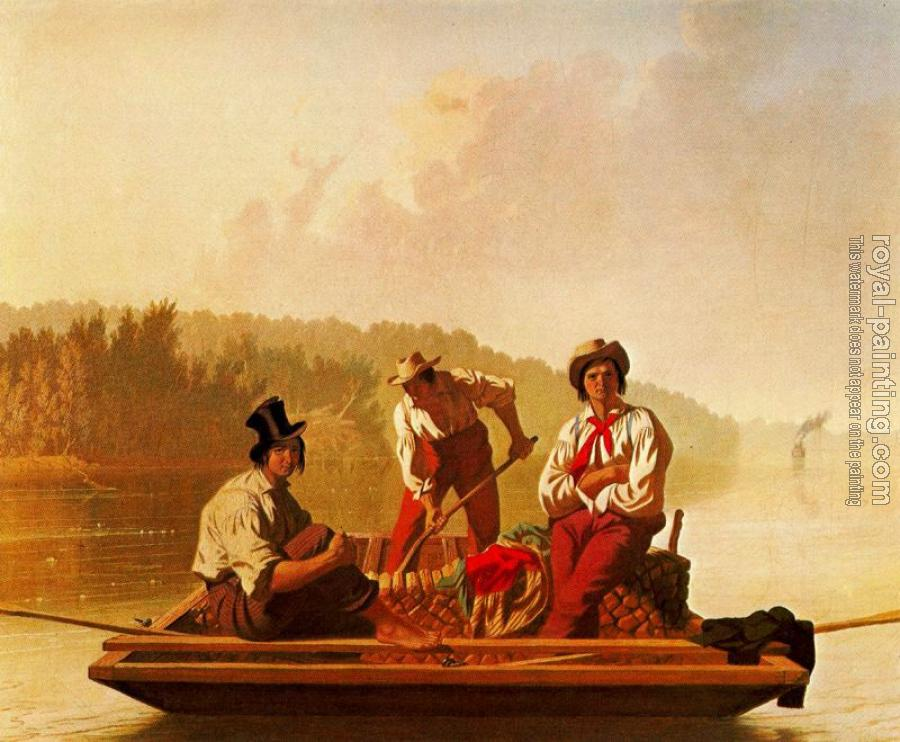 George Caleb Bingham : Boatmen on the Missouri