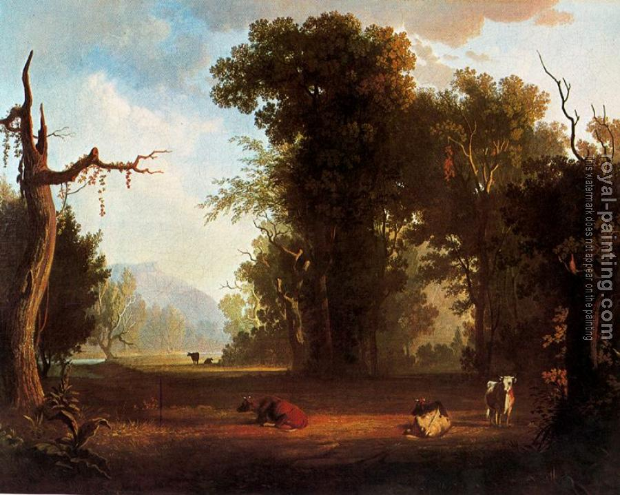 George Caleb Bingham : Landscape with Cattle