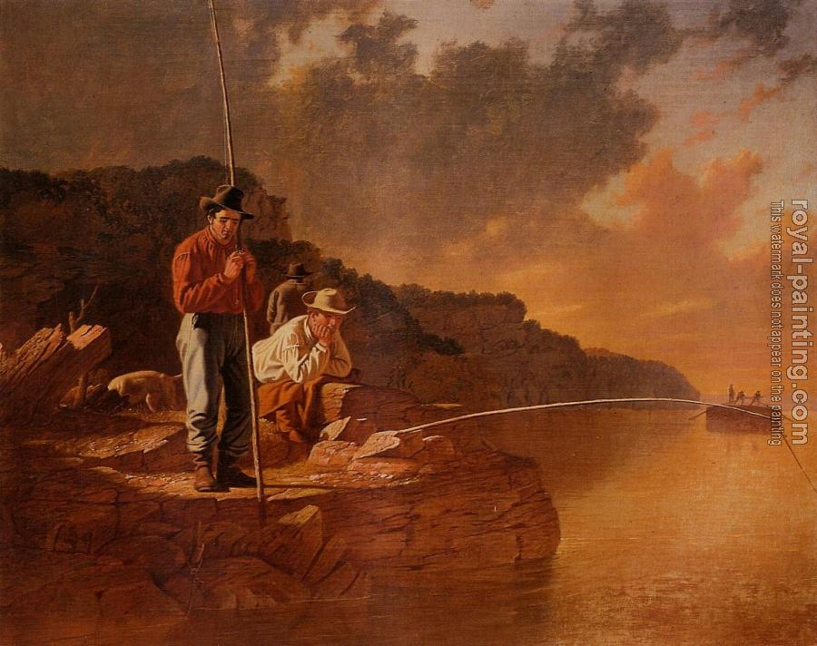 George Caleb Bingham : Fishing on the Mississippi