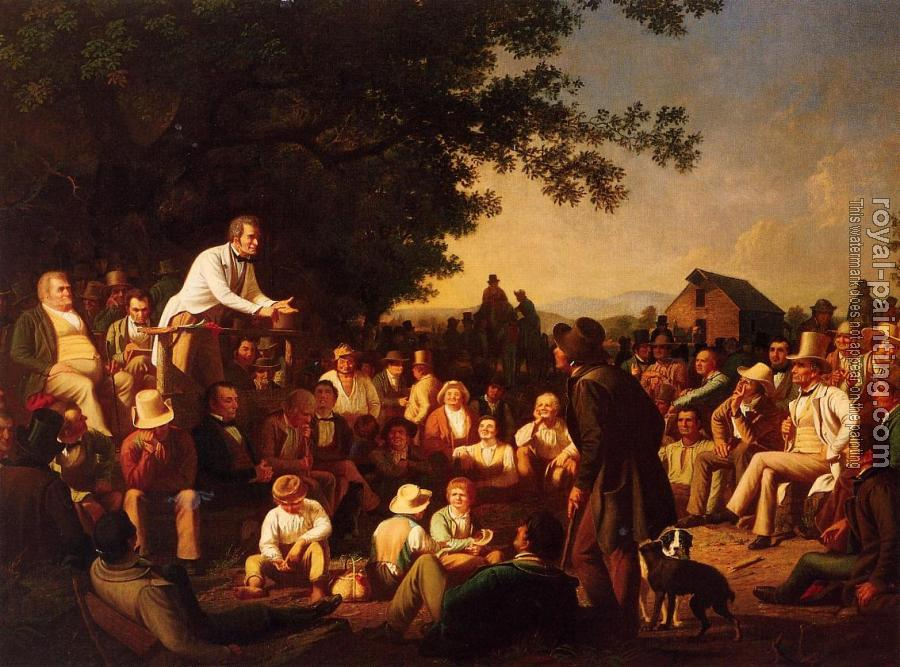 George Caleb Bingham : Stump Speaking