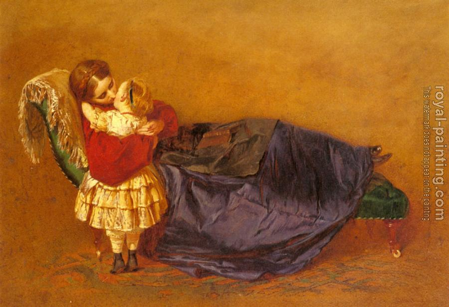 George Elgar Hicks : Mother And Child