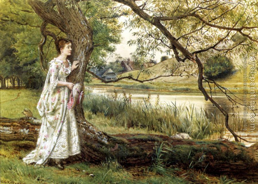 George Goodwin Kilburne : On The River bank