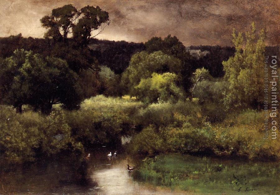 George Inness : A Gray Lowery Day