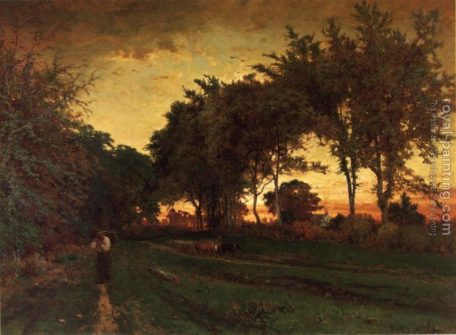 George Inness : Evening Landscape