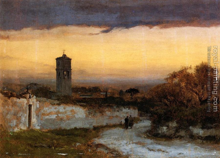 George Inness : Monastery at Albano