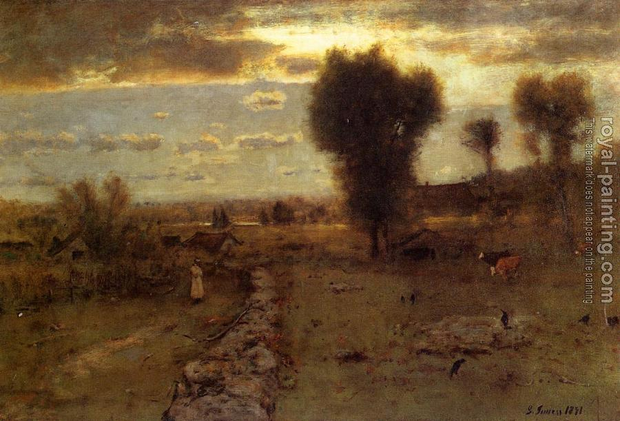 George Inness : The Clouded Sun