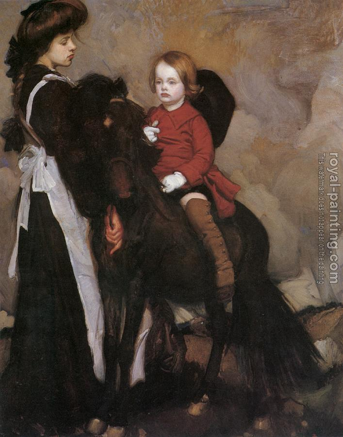 George Lambert : Equestrian Portrait of a Boy