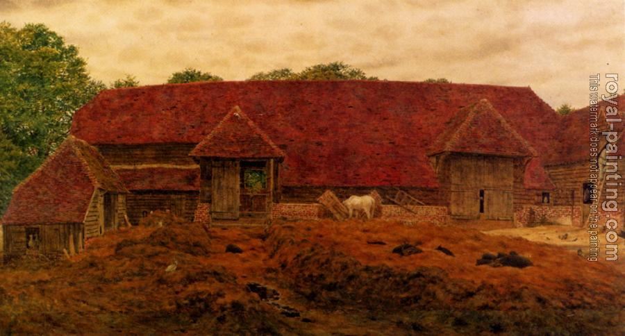George Price Boyce : The Old Barn At Whitchurch