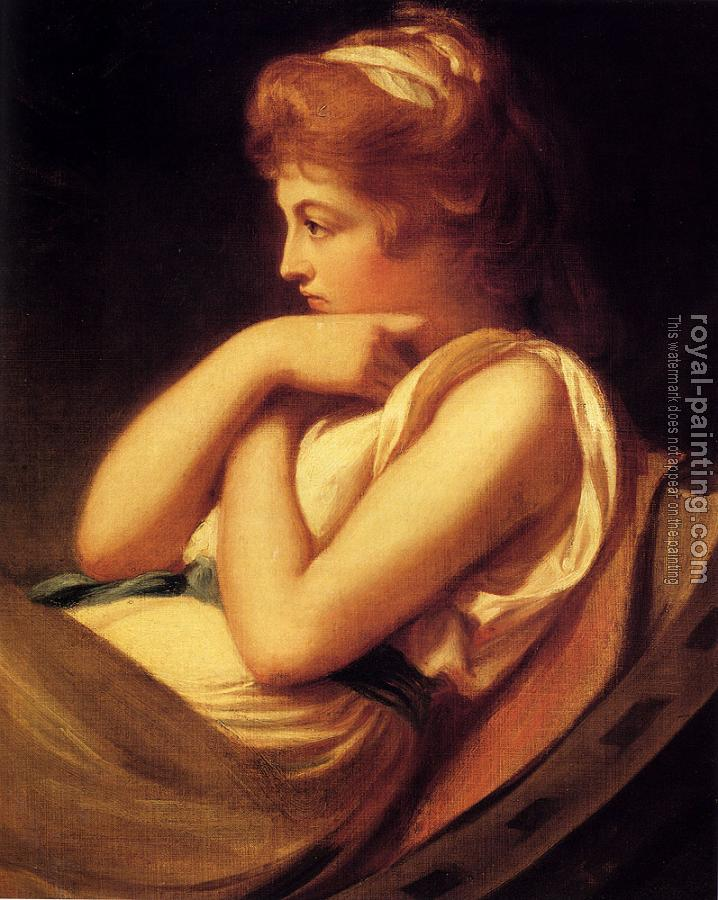 George Romney : Serena In Contemplation