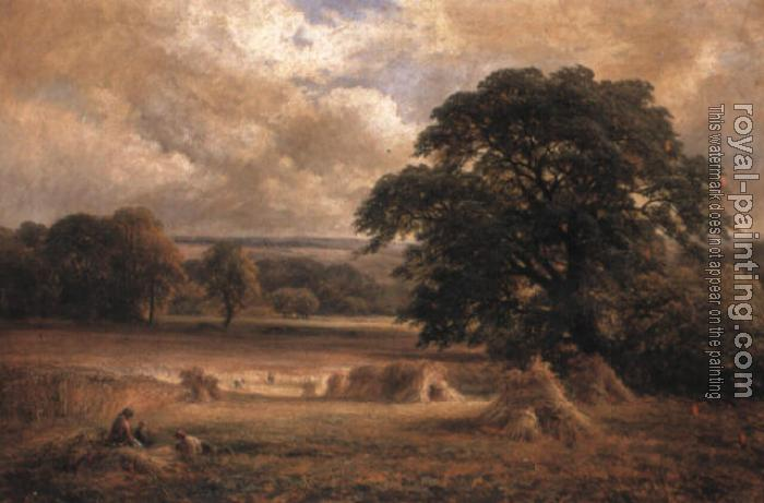 George Turner : Harvesting near Swarkestone, Derbyshire