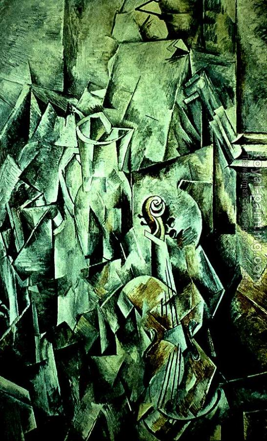 Georges Braque : Violin and pitcher