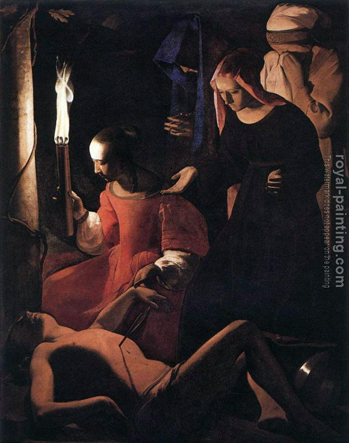 Georges De La Tour : St Sebastien Attended by St Irene