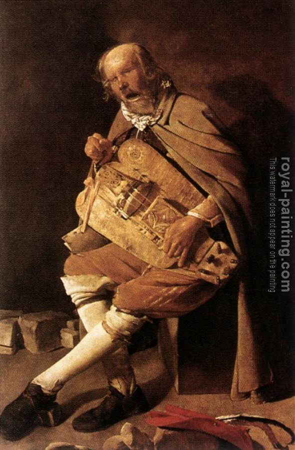 The Hurdy gurdy Player