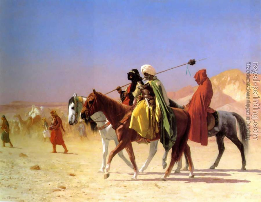 Jean-Leon Gerome : Arabs Crossing the Desert