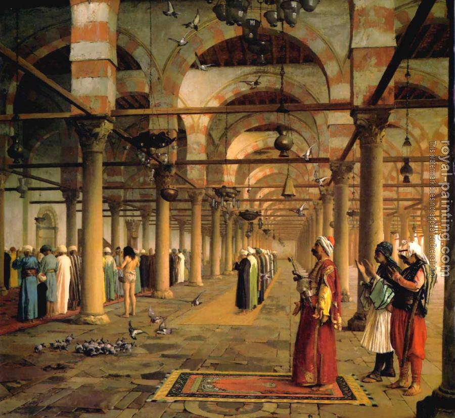 Jean-Leon Gerome : Public Prayer in the Mosque of Amr, Cairo