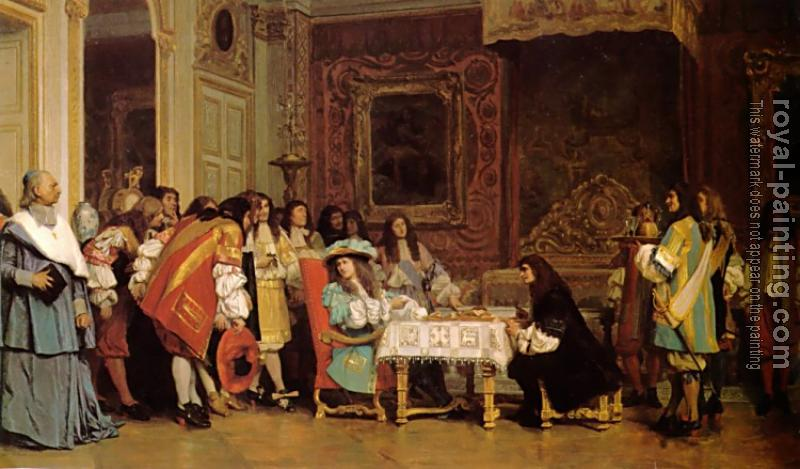 Jean-Leon Gerome : Louis XIV and Moliere