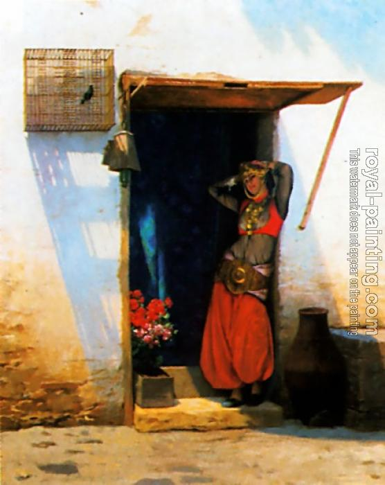 Jean-Leon Gerome : Woman of Cairo at her Door