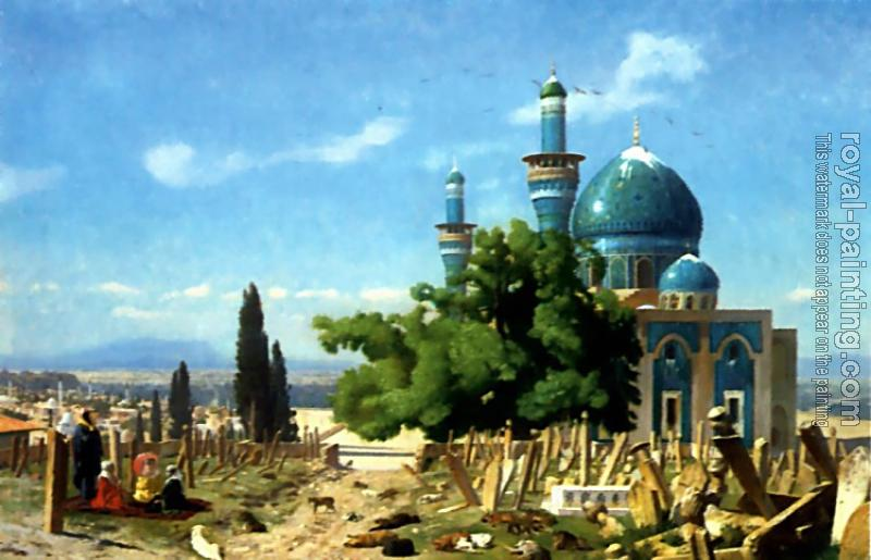 Jean-Leon Gerome : The Field of Rest Cemetary of the Green Mosque