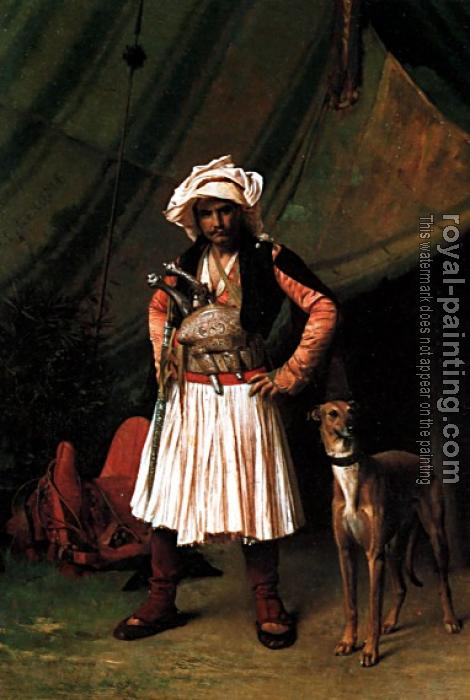 Jean-Leon Gerome : Bashi-Bazouk and his Dog