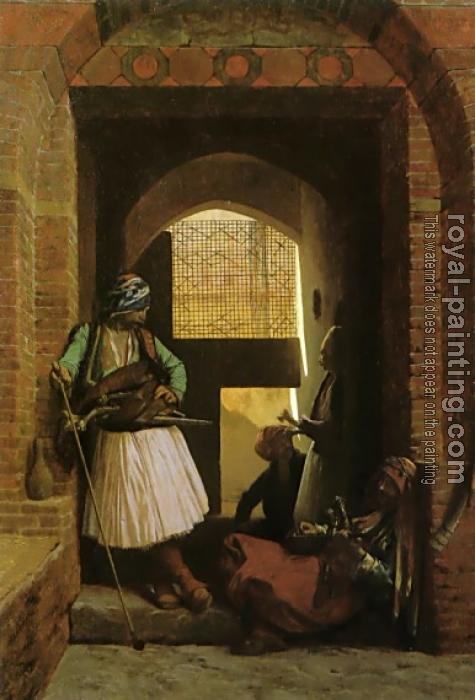Jean-Leon Gerome : Arnauts of Cairo at the Gate of Bab-el-Nasr