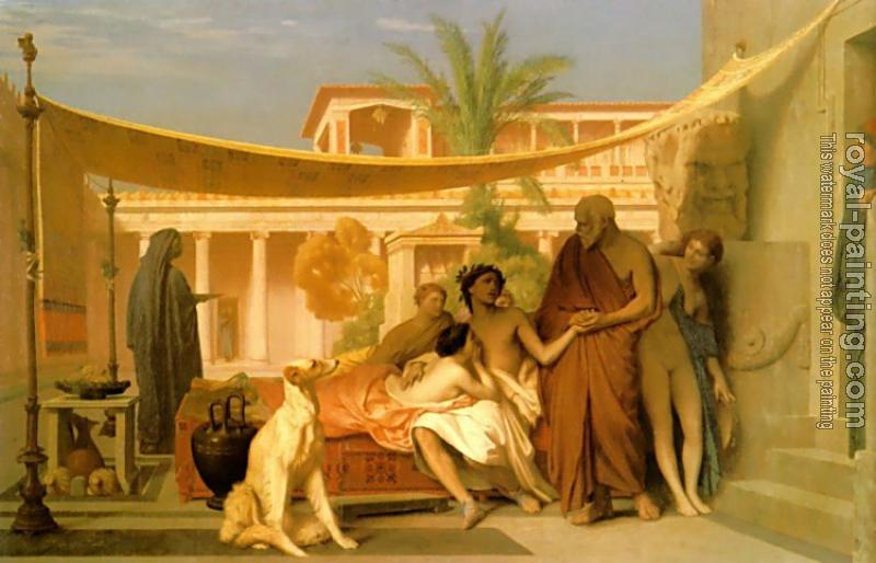 Jean-Leon Gerome : Socrates seeking Alcibiades in the House of Aspasia