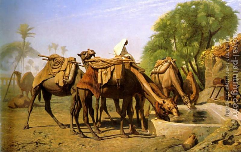 Jean-Leon Gerome : Camels at the Fountain