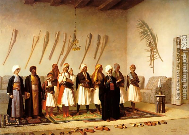 Jean-Leon Gerome : Prayer in the House of an Arnaut Chief
