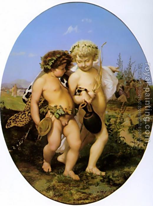 Jean-Leon Gerome : Drunken Bacchus and Cupid
