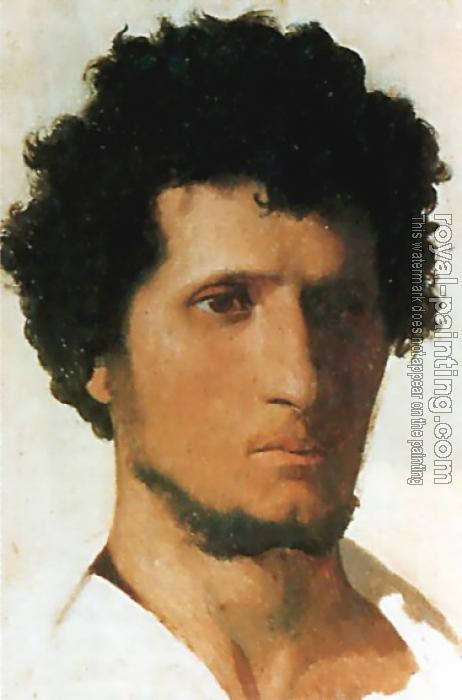 Jean-Leon Gerome : Head of a Peasant of the Roman Campagna