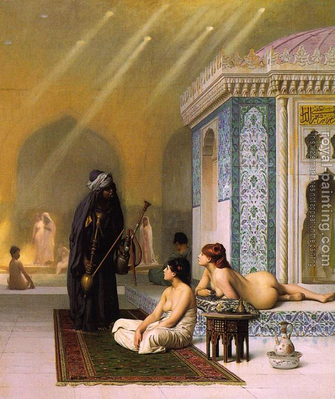 Jean-Leon Gerome : Pool in a Harem