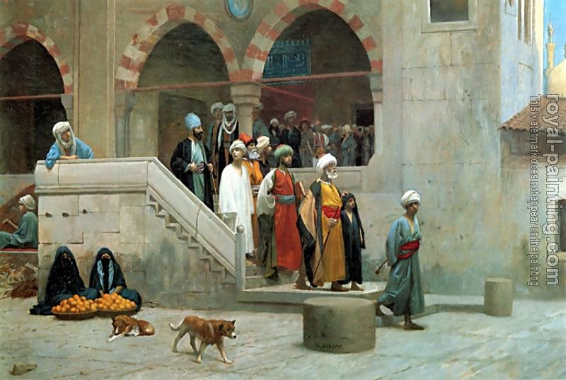 Jean-Leon Gerome : Leaving the Mosque