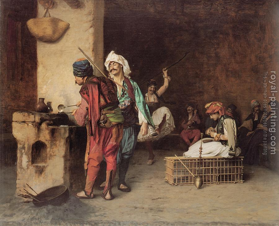 Jean-Leon Gerome : A Cafe in Cairo