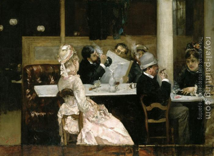 Henri Gervex : Cafe Scene in Paris