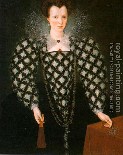 Marcus Il Giovane Gheeraerts : Portrait of Mary Rogers
